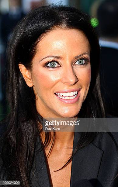 Australian actress Esther Anderson poses during a Heath Ledger tribute outdoor movie night at Burswood Park on February 12 2011 in Perth Australia...