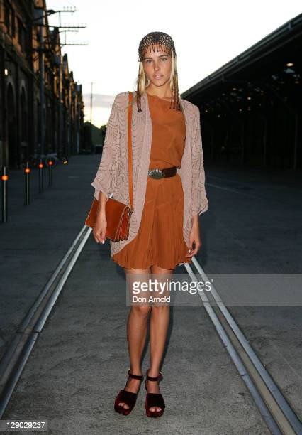 Australian actress Isabel Lucas poses during the ASOS Australian launch at The Carriageworks on October 11, 2011 in Sydney, Australia.