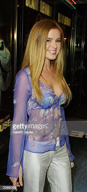 Australian actress Isla Fisher former cast member in the Australian soap opera Home and Away attends the film premiere of Ali G In Da House at the...