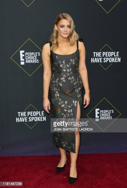 Australian actress Josephine Langford arrives for the 45th annual E People's Choice Awards at Barker Hangar in Santa Monica California on November 10...