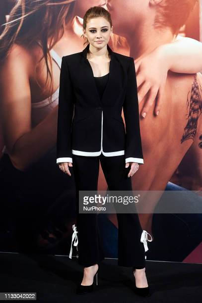Australian actress Josephine Langford during the presentation of film 'After' in Madrid Spain Mar 26 2019