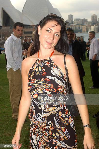 Australian actress Kate Ritchie attends the wedding of Kip Gamblin and Linda Ridgeway at the Botanic Gardens on March 20 2004 in Sydney Australia