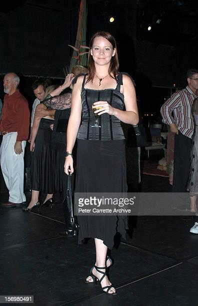 Australian actress Kimberley Cooper attends the wedding reception of Kip Gamblin and Linda Ridgeway on March 20 2004 in Sydney Australia