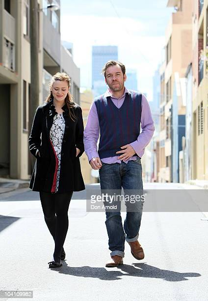 Australian actress Maeve Dermody and actor Brendan Cowell arrive at the 2011 season launch at the Belvoir Street Theatre on September 15 2010 in...