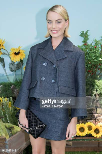 Australian actress Margot Robbie attends the Sydney premiere of Peter Rabbit on March 17 2018 in Sydney Australia