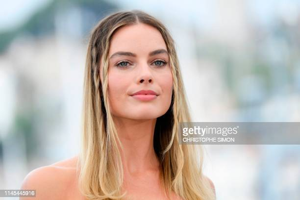 """Australian actress Margot Robbie poses during a photocall for the film """"Once Upon a Time... In Hollywood"""" at the 72nd edition of the Cannes Film..."""