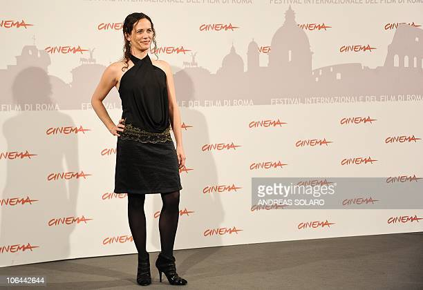 Australian actress Melanie Munt poses during the photocall of Little Sparrows at the fifth Rome Film Festival in Rome on November 2 2010 The film is...