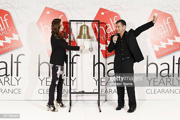 Australian actress Melissa George attends the offical 'bell ringing' ceremony for the Boxing Day sales at the David Jones Market Street store on...