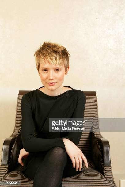 Australian actress Mia Wasikowska poses during a portrait session to promote her new film 'Alice in Wonderland' at the Intercontinental Hotel on...