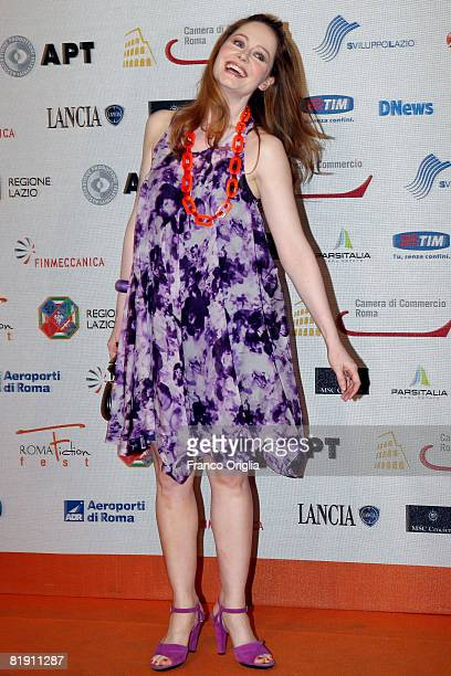 Australian actress Miranda Otto attends the fourth day of Roma Fiction Fest 2008 at the Adriano Cinema on July 10 2008 in Rome Italy
