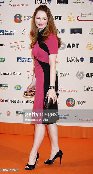 Australian actress Miranda Otto attends the Roma Fiction Fest 2008 Closing Ceremony and Diamond Awards on July 12 2008 in Rome Italy