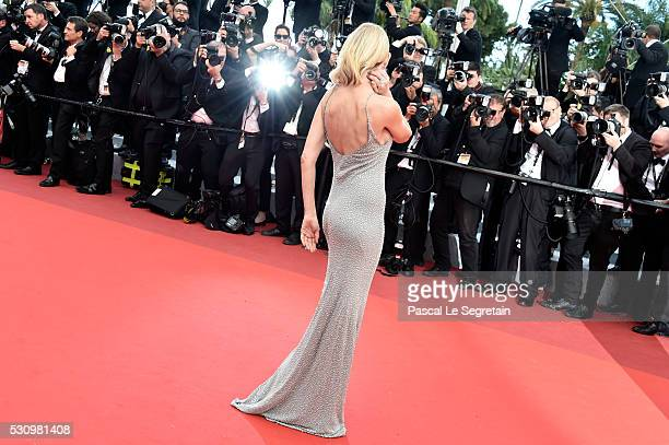 Australian actress Naomi Watts attends the 'Money Monster' premiere during the 69th annual Cannes Film Festival at the Palais des Festivals on May 12...