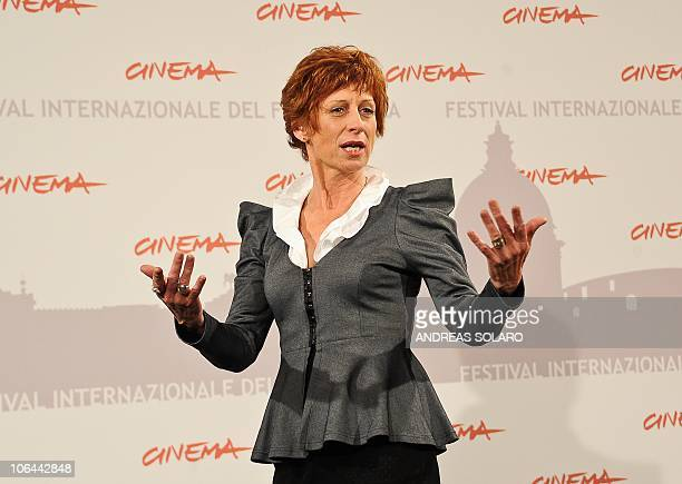Australian actress Nicola Bartlett poses during the photocall of Little Sparrows at the fifth Rome Film Festival in Rome on November 2 2010 The film...