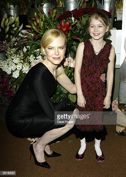 Australian actress Nicole Kidman and American child actress Sophie Wyburd attend the premiere party for the screening of the film The Hours at the...