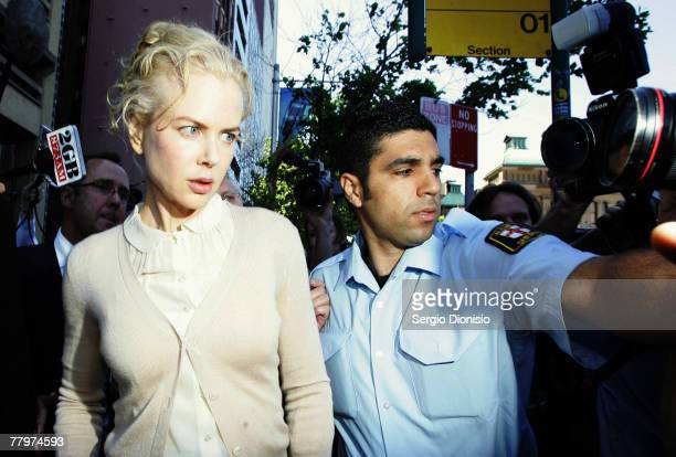 Australian actress Nicole Kidman arrives at the NSW Supreme Court to give evidence against photographer Jamie Fawcett on November 19 2007 in Sydney...