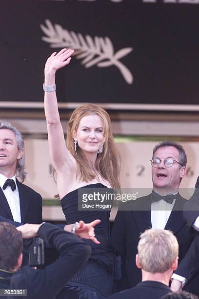"""Australian actress Nicole Kidman arrives at the premiere of her film """"Moulin Rouge"""" at the International Film Festival on April 2, 2001 in Cannes,..."""