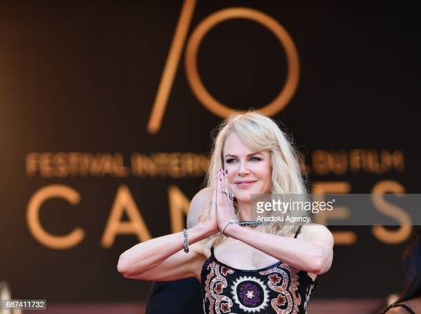 Australian actress Nicole Kidman arrives for the 70th Anniversary Ceremony of Cannes Film Festival in Cannes France on May 23 2017