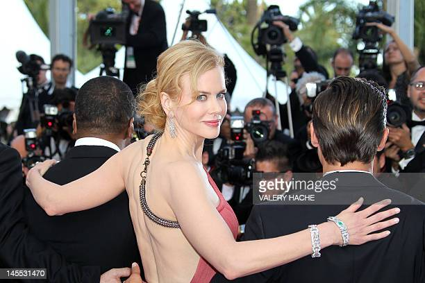 """Australian actress Nicole Kidman arrives for the screening of """"The Paperboy"""" presented in competition at the 65th Cannes film festival on May 24,..."""