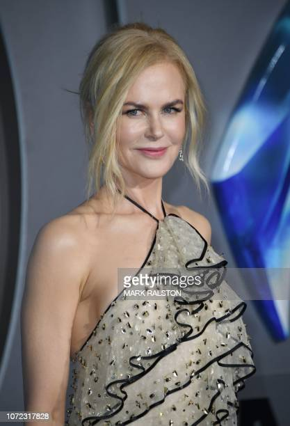 Australian actress Nicole Kidman arrives for the world premiere of 'Aquaman' at the TCL Chinese theatre in Hollywood on December 12 2018