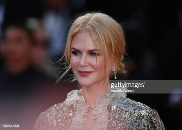 Australian actress Nicole Kidman leaves after screening of the film How to talk to girls at parties out of competition at the 70th annual Cannes Film...