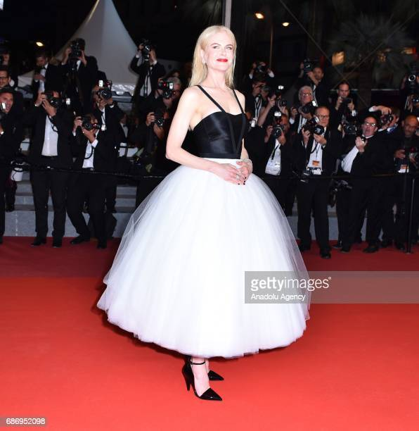 Australian actress Nicole Kidman leaves after the premiere of the film 'The Killing of a Sacred Deer' in competition at the 70th annual Cannes Film...