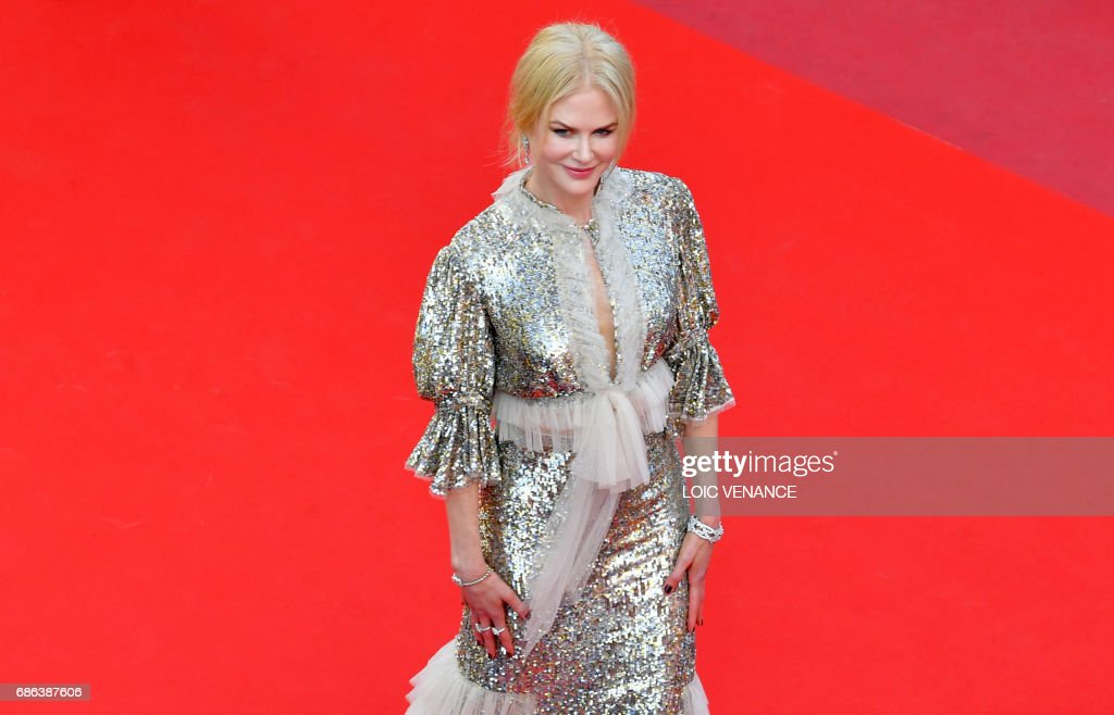Australian actress Nicole Kidman leaves the Festival Palace on May 21, 2017 following the screening of the film 'How to talk to Girls at Parties' at the 70th edition of the Cannes Film Festival in Cannes, southern France. /