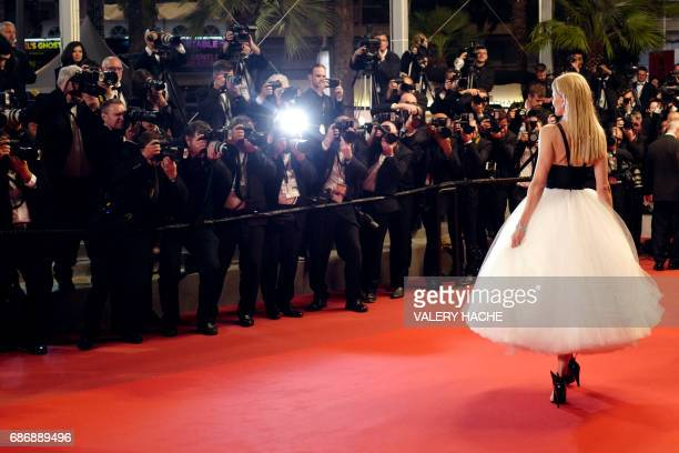TOPSHOT Australian actress Nicole Kidman poses as she leaves the Festival Palace on May 22 2017 following the screening of the film 'The Killing of a...