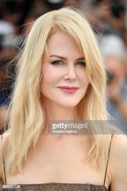 Australian actress Nicole Kidman poses during a photocall for the film 'Mise a Mort du cerf sacre' in competition at the 70th annual Cannes Film...