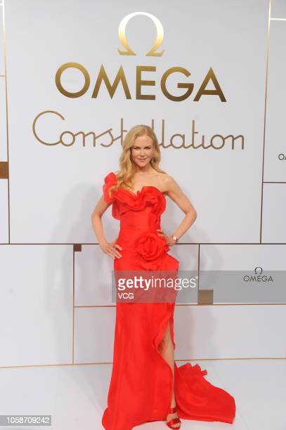 Australian actress Nicole Kidman poses during an Omega new product launch event on October 23 2018 in Shanghai China