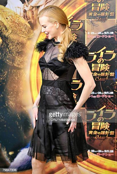 "Australian actress Nicole Kidman poses during the photo session in Tokyo on February 20, 2008. Kidman is in Japan to promote the movie ""The Golden..."