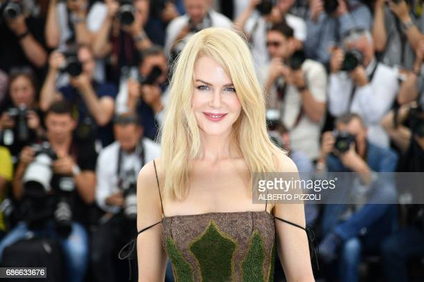 Australian actress Nicole Kidman poses on May 22 2017 during a photocall for the film 'The Killing of a Sacred Deer' at the 70th edition of the...