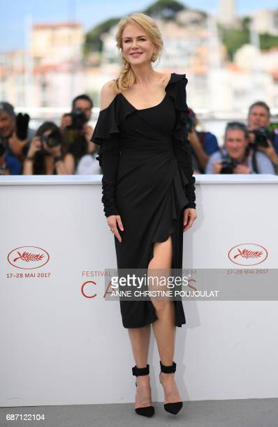 Australian actress Nicole Kidman poses on May 23 2017 during a photocall for the tv series 'Top Of The Lake China Girl' at the 70th edition of the...