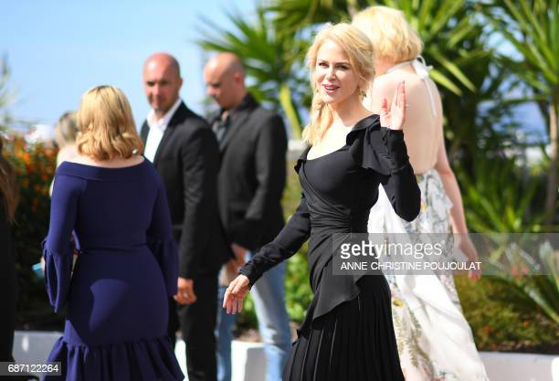 Australian actress Nicole Kidman poses on May 23, 2017 during a photocall for the tv series 'Top Of The Lake: China Girl' at the 70th edition of the...