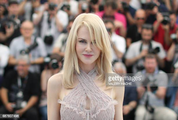 Australian actress Nicole Kidman poses on May 24, 2017 during a photocall for the film 'The Beguiled' at the 70th edition of the Cannes Film Festival...