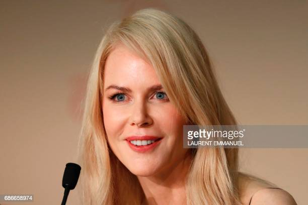 Australian actress Nicole Kidman smiles during a press conference for the film 'The Killing of a Sacred Deer' at the 70th edition of the Cannes Film...