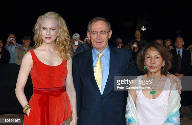 Australian actress Nicole Kidman with NSW Premier Bob Carr and his wife Helena Carr arrive for the World Premiere of the film 'The Interpreter' at...