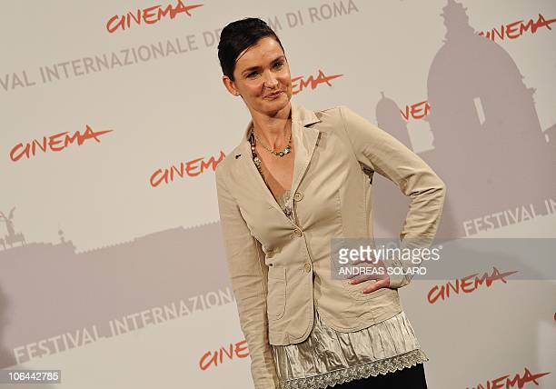 Australian actress Nina Deasley poses during the photocall of Little Sparrows at the fifth Rome Film Festival in Rome on November 2 2010 The film is...