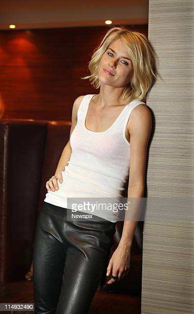Australian actress Rachael Taylor poses during a photo shoot in Sydney where she is shooting a television commercial for the Bonds Summer 2011...