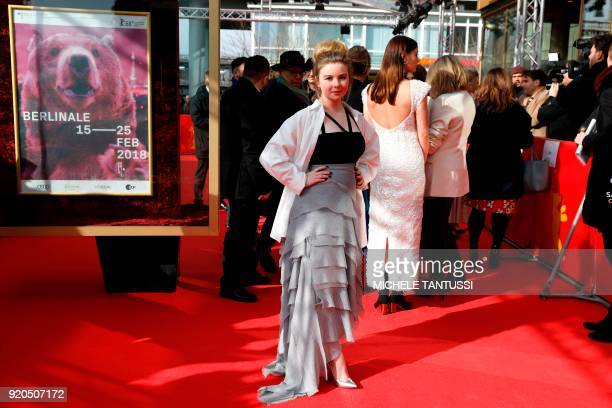 Australian actress Ruby Rees poses on the red carpet upon arrival for the premiere of the series 'Picnic at Hanging Rock' presented in the section...