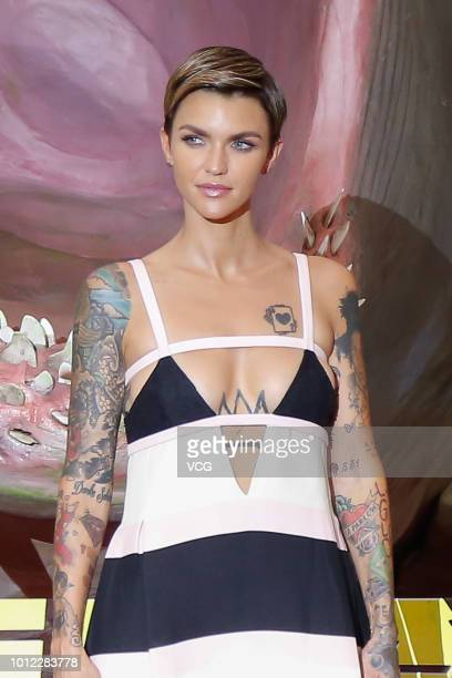 Australian actress Ruby Rose attends the premiere of film 'The Meg' on August 2 2018 in Beijing China