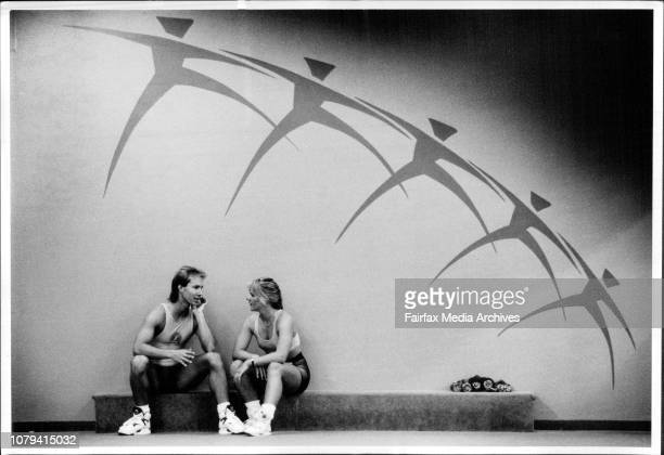 Australian Aerobic Champions Gina Good and Anton Scott March 6 1991