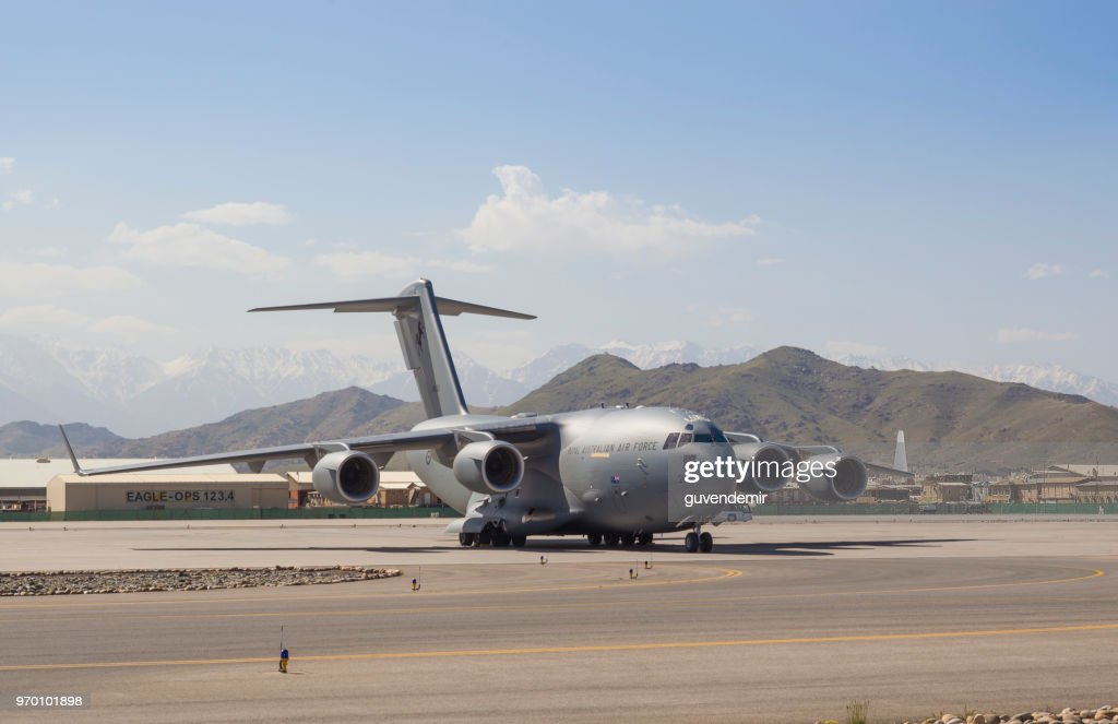 オーストラリア空軍の C-17 軍用貨物輸送機 : ストックフォト