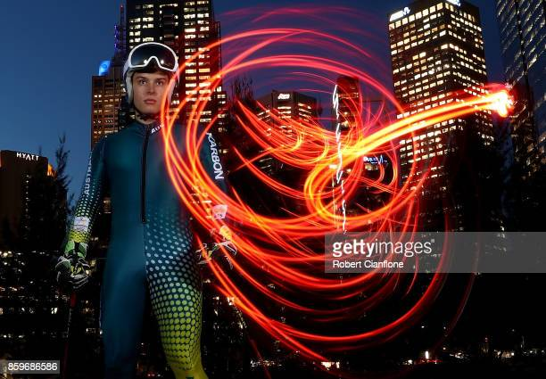 Australian Alpine Skier Alec Scott poses during a portrait session on October 10 2017 in Melbourne Australia