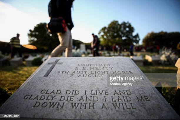 Australian and New Zealanders arrive at memorial after attending the traditional ANZAC Dawn service at Anzac Cove in commemoration of the 103rd...