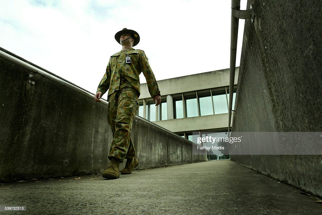 ea9e32961eb Australian Army Captain Matthew Patching at Randwick Barracks .