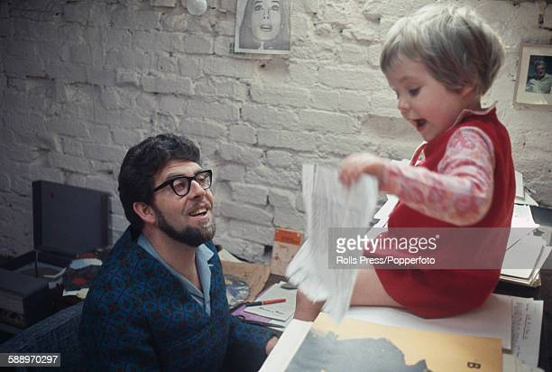 Australian artist and entertainer Rolf Harris possibly with his daughter Bindi at home in England in 1968