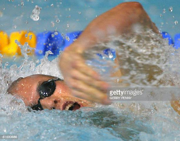 Australian Ashley Callus in action during the 2002 Manchester Commonwealth Games men's 100m freestyle first round 01 August 2002 AFP PHOTO GERRY PENNY