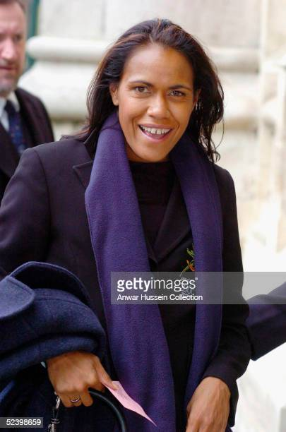 Australian athlete Cathy Freeman arrives for an Observance for Commonwealth Day 2005 service held at Westminster Abbey in central London on March 14...