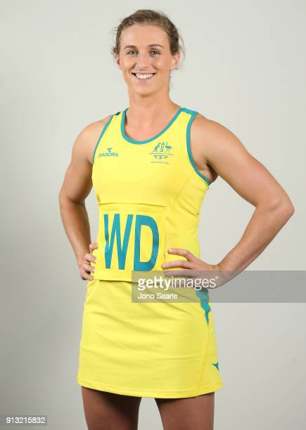 Australian Athlete Gabi Simpson poses during the Australian Commonwealth Games Team Uniform Launch at The Star on February 2 2018 in Gold Coast...