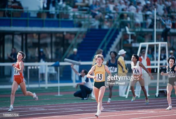 Australian athlete Raelene Boyle at the Commonwealth Games in Brisbane Australia 1982